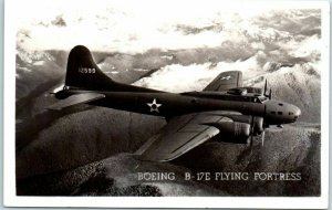1943 Military Aircraft RPPC Real Photo Postcard BOEING B-17E FLYING FORTRESS