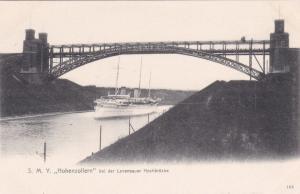 GERMANY, 1890s; S.M.Y.HOHENZOLLERN bei der Levansauer Hichbrucke