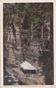New York Ausable Chasm Table Rock Sentinel and Cathedral