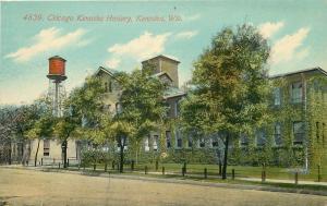Kenosha Wisconsin~Chicago Kenosha Hosiery Factory~Water Tower~1908 Postcard