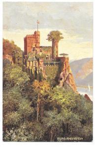 Tuck Rheinburgen Oilette Germany Burg Rheinstein Castle