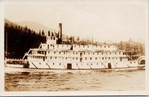 'Nasookin' Paddlewheel Boat BC British Columbia Unused Gowen RPPC Postcard F87