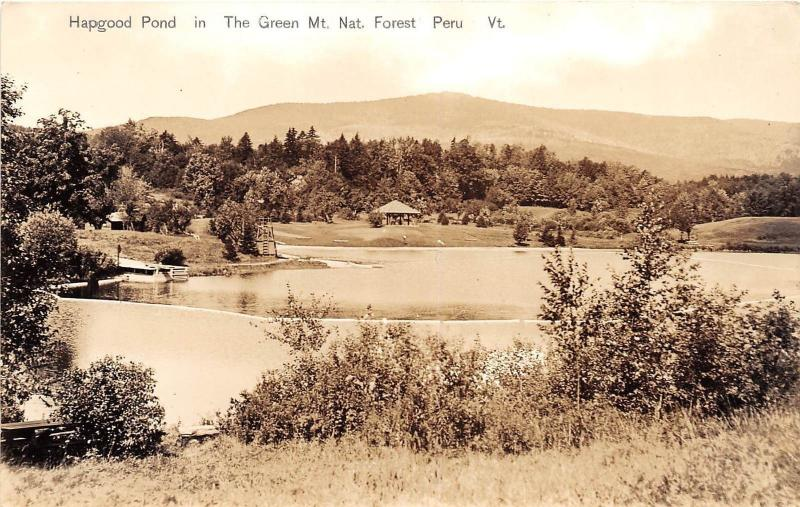 D76/ Peru Vermont VT Real Photo RPPC Postcard 40s Green Mountain National Forest