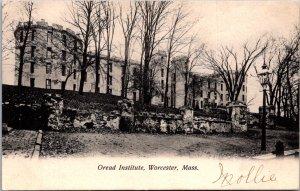 Oread Institute Worcester MA oldest Women's College undivided back c1907 castle