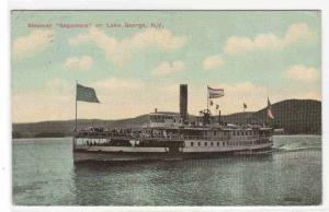 Steamer Sagamore Lake George New York 1914 postcard