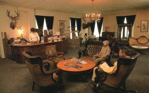 Vintage Postcard Lobby of the Historic St. James Hotel Cimarron New Mexico