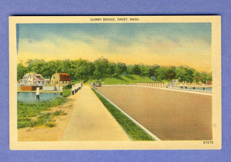 Onset, Mass/MA Postcard, Dummy Bridge, Cape Cod