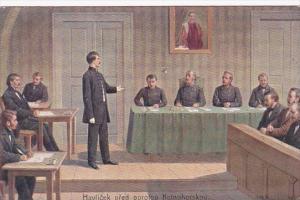 Czechoslovakia Praha Havlicek pred porotou Kutnohorskou Miltary Tribunal