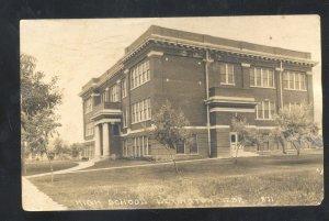 RPPC LEXINGTON NEBRASKA HIGH SCHOOL NEW DOUGLAS ILL. REAL PHOTO POSTCARD