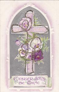 Easter Lavender Cross Wrapped With Flowers