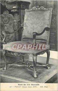 Old Postcard Musee des Arts Decoratifs Armchair (Louis XIV period)