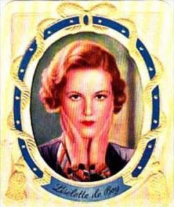 Garbaty German Cigarette Card Filmstars No 250 Liselotte de Boy