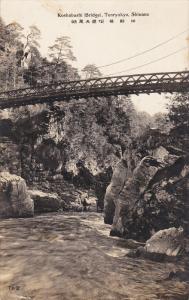 RP, Koshabashi (Bridge), Tenryukyo, SHINANO, Japan, 1920-1940s
