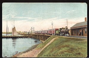 USA White Mountain Express at Kittery Jct. Maine   c. 1912 CDS Unreadable