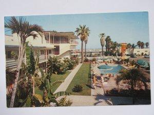 El Patio Del Mar Motel & Restaurant in Santa Barbara CA Vintage Chrome Postcard