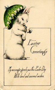 Greeting - Easter. Bunny