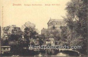 Zwinger Schlosschen Dresden Germany Unused