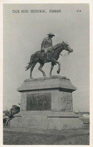 Dick King Memorial Durban South Africa Real Photo Postcard