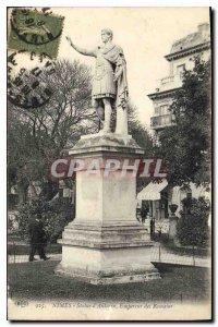 Old Postcard Nimes Statue of Roman Emperor Antoninus