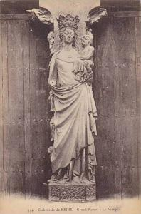 Grand Portail, La Vierge, Cathedrale De Reims (Marne), France, 1900-1910s
