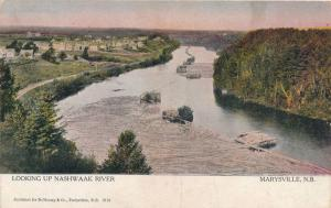 Looking up the Nashwaak River at Marysville NB, New Brunswick, Canada - pm 1906