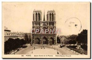 Paris Old Postcard Notre Dame de Paris