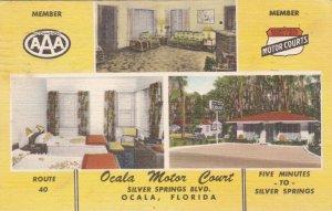 Florida Ocala Motor Court Silver Springs Boulevard 1953 sk3307