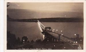 Lake Washington Floating Bridge Seattle Washington Real Photo