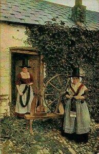 English Women Old House Postcard
