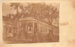 Saco ME Trolley # 179 To Old Orchard Beach ME RPPC Postcard