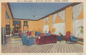 PEORIA , Illinois , 1930-40s ; Main Lobby , Mayer Hotel