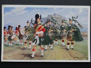 Scotland THE ARGYLL & SUTHERLAND HIGHLANDERS Conrad Leigh by Valentine c1950s PC