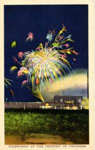 IL - Chicago. 1933 World's Fair-Century of Progress. Fireworks