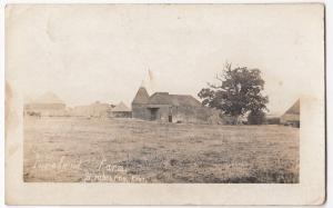 Kent; Foreland Farm, Brabourne, Kent RP PPC Ashford 1909 PMK, Shows Oast House