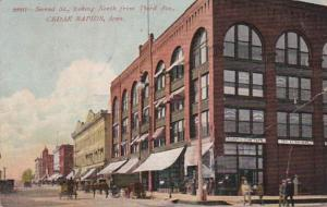 Iowa Cedar Rapids Second Street Looking North From Third Avenue 1909
