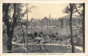 Mundelein Illinois~St Mary of the Lake Seminary~View from Distance~1929 Pc