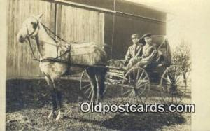 Jeromeville, Ohio, USA? Horse Drawn Postcard Post Card Old Vintage Antique  J...
