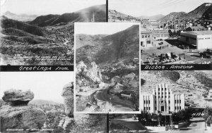 Bisbee Arizona multi View 1940s RPPC Photo Postcard 9471