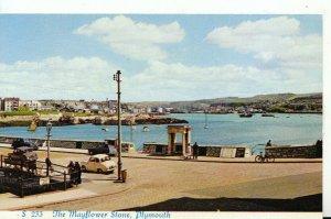 Devon Postcard - The Mayflower Stone - Plymouth - Ref 16454A