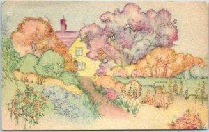 Chicago IL Advertising Postcard GEORGE WIENHOEBER FLORIST 41 S. Wabash - 1941