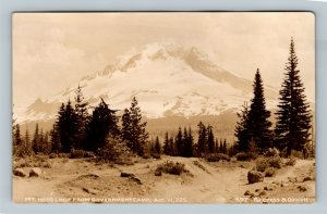 RPPC Mt Hood OR, Loop From Government Camp, Oregon Real Photo Postcard