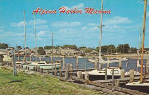 A view of Alpena's Harbor Marina, Alpena, Michigan,40-60s