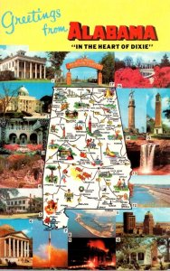 Alabama Greetings With Map and Multi Views