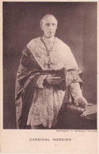 Cardinal Mercier Belgium Avenged Antique Religious Postcard
