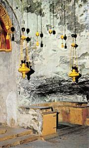 Israel Old Vintage Antique Post Card Chapel of St Helena Jerusalem Writing on...