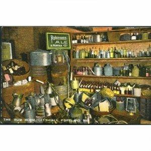Hugh C. Leighton Co. Postcard 'The Rum Room, City Hall, Portland, ME'