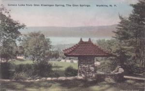 Senca Lake From Glen Kissingen Spring The Glen Springs Watkins New York Handc...