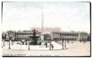 Paris Postcard Old Place Concorde