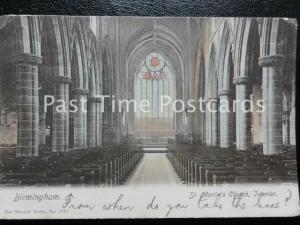 c1907  - Birmingham, St. Martin's Church, Interior - Pub by The Wrench Series