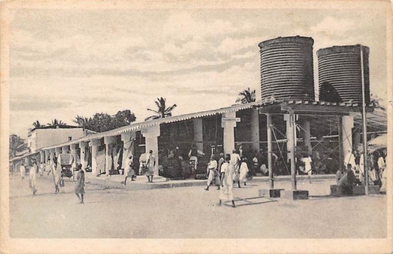 German East Africa Tanzania Dar es Salaam, Daressalaam Town Market, Natives